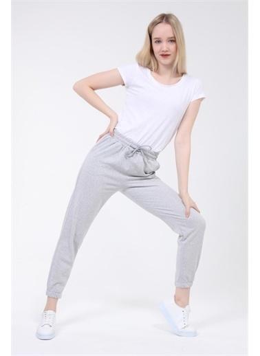 Rodi Jeans Kadın Basic Paça Lastikli Alt Eşofman TY21YB090140 Gri
